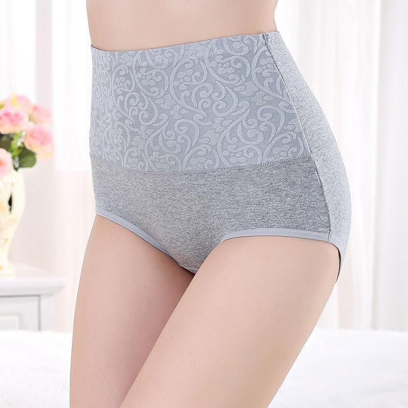 Трусики с высокой талией L/XXXXL, хлопковое женское нижнее белье с принтом, большие размеры, сексуальные женские трусы