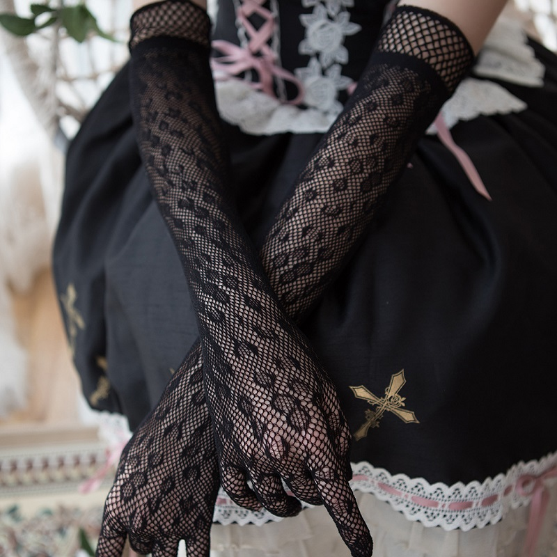 Sexy Black Braidal Groves Wedding Accessories Gloves For Bride Dress Dance Party Wedding Womans Black Accessoire Mariage ST275