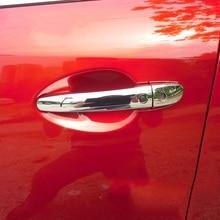 цена на For Mazda M2 M3 M6 CX3 CX5 Chrome Door Handle Cover Overlay Mazda2 Mazda3 Mazda6 CX-3 CX-5 BM BN GJ GL DJ DL Accessories
