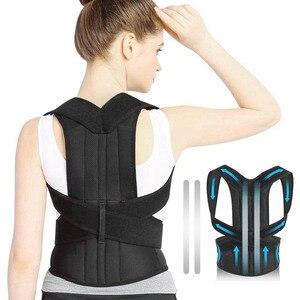 Image 5 - 4XL Bovenste Rugpijn Relief Houding Corrector Voor Mannen Body Shapers Schouder Ondersteuning Riem Volwassen Kids Spine Protector Lumbale Braces