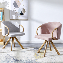 Modern casual coffee table wrought iron Cotton linen chair dining chairs for dining rooms furniture meeting Kitchen bedroom cafe