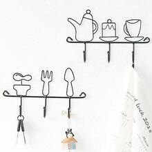 Скандинавский простой железный ключ крюк полка креативный вход стены пальто крышка крюк украшение ключ держатель стены
