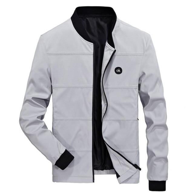 Spring Jackets Mens Pilot Bomber Jacket Male Fashion Baseball Hip Hop Coats Slim Fit Coat Brand Clothing 2