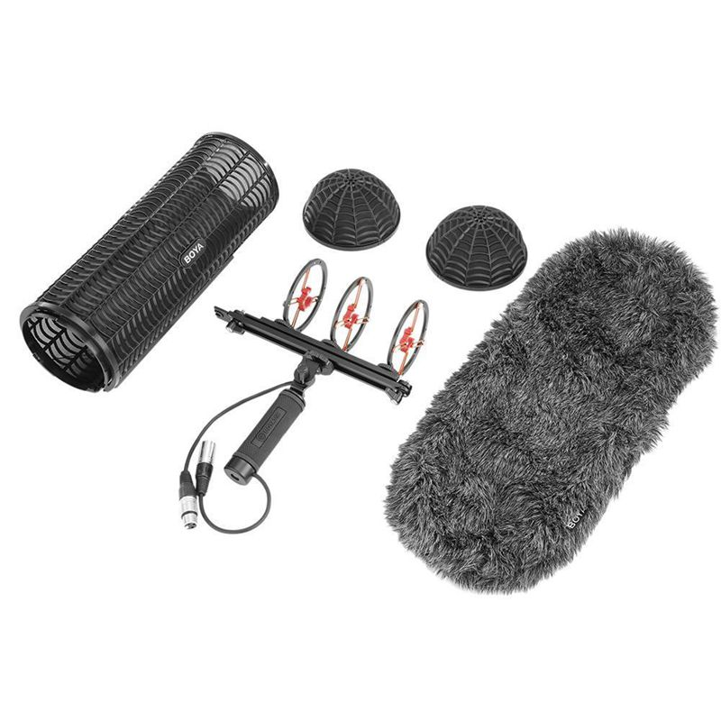 Boya By-Ws1000 Blimp Windshield & Suspension For  Microphones Cage Handle Shock Absorber Wind Sweater Mic Cable
