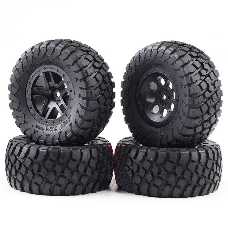 4PCS Huanqi727 VKAR DHK8135 Reifen 12mm Combiner 110mm Durchmesser Reifen Wearable Reifen für 1/10 RC Auto Kurze lkw Buggy Auto DIY Teil