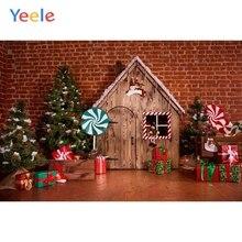 Yeele Christmas Backdrop Tree Gifts Lollipop Candy House Newborn Baby Birthday Party Photography Background Photo Studio