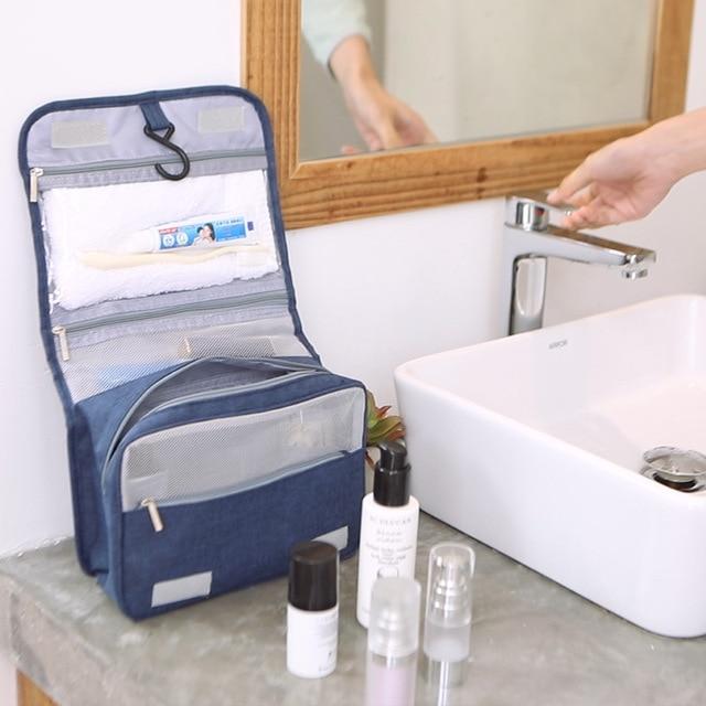 Hommes cosmétique Portable crochet sac de bain toilette Suspension organisateur sacs de toilette maquillage beauté maquillage pochette vie nécessaires