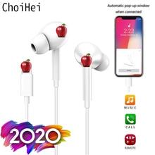 Dla Apple iPhone 7 8 6 Plus w uchu słuchawki Stereo z mikrofonem przewodowe słuchawki Bluetooth dla iPhone 11 X XR XS Max zestawy słuchawkowe