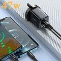 Ган 47W 1 порт Quick Charger 4,0 3,0 Тип C PD USB зарядное устройство для Iphone Samsung Смартфон Портативное зарядное устройство для ноутбука