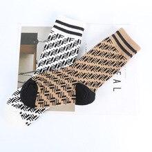 Детские носки среднего и маленького размера, Детские трендовые трубки, носки с буквами, детские носки в стиле INS для мужчин и женщин, весна-лето