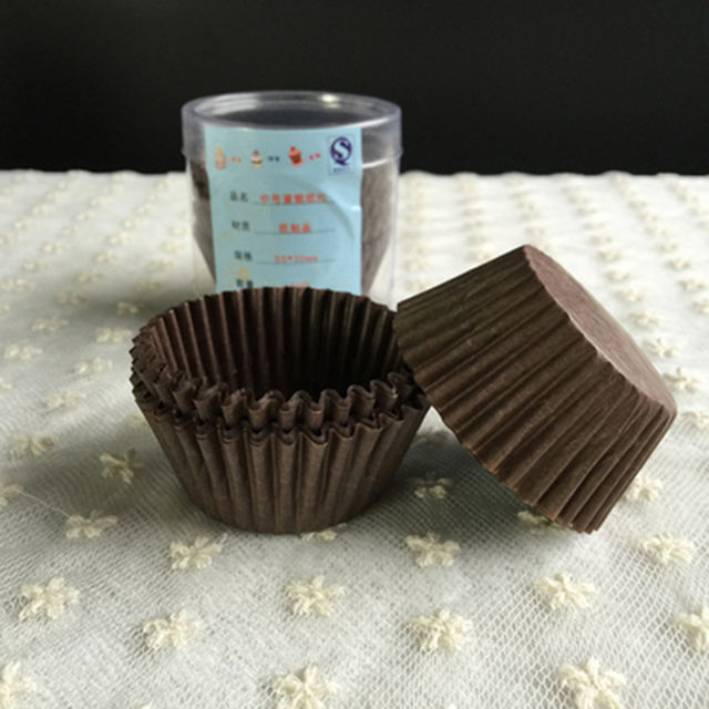 Mini Solid Multicolor Cupcake Cup Set 100 Pcs