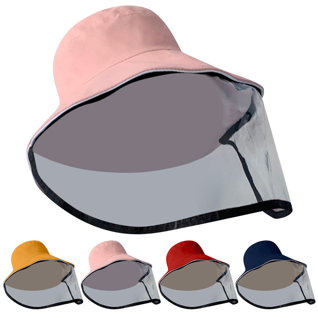 Dustproof Cover Adult Fisherman Cap Hat Women's Visor Anti-spitting Anti-droplet Splash-Proof Hat Fisherman Cap #C