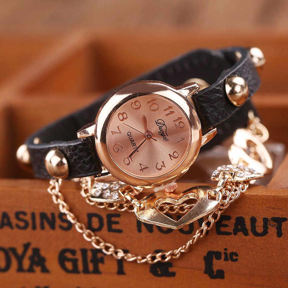 Montre Femmes Bracelet dames montre Femmes Mode Bracelet En Cuir Montre-Bracelet Femmes Robe Quartz montre-Bracelet relogio feminino