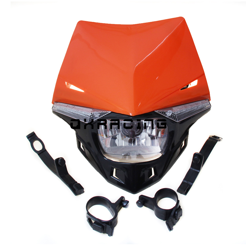 <font><b>Universal</b></font> Motorcycle <font><b>Dirt</b></font> <font><b>Bike</b></font> LED <font><b>Headlights</b></font> Headlamp fit For EXC EXCF SX SXF SXS MXC MX DUKE LC4 SMR image
