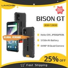Umidigi bison gt 8gb + 128gb impermeável ip68/ip69k telefone áspero 6.67