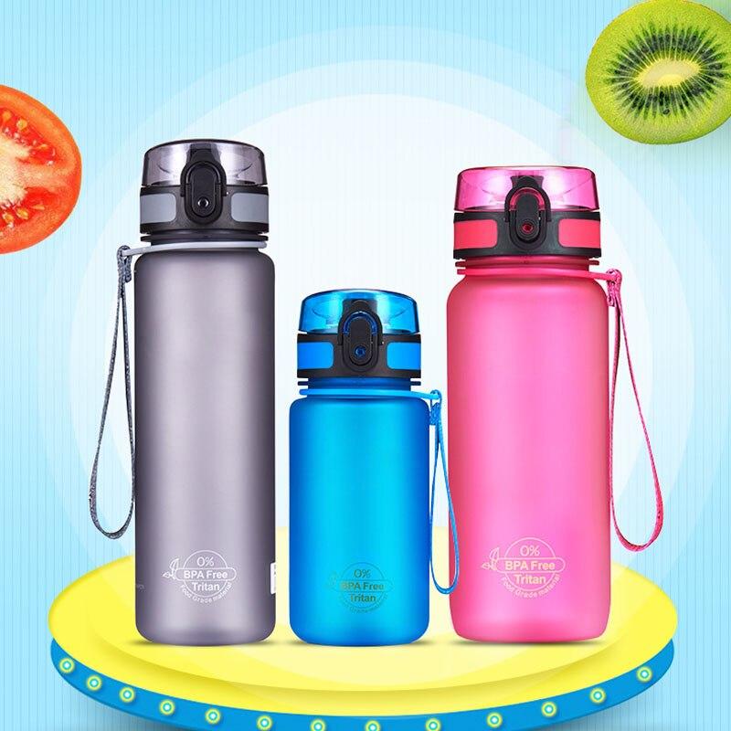 Sport Water Bottle 400-1000ml Plastic Sport Direct Drinking Shaker Bottles Outdoor Bike Hiking Portable Leakproof Drink Bottle