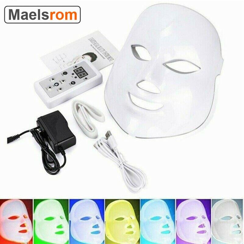 Led Face Mask Led Light Therapy 7 Color Facial Skin Care Mask Light Treatment Acne Photon Mask Korea PDT for Skin Rejuvenation