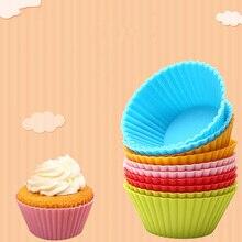 12 шт. форма для выпечки, форма для выпечки, круглая силиконовая форма для кексов