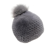 2019 New Korean rex rabbit fur hat woman winter fur hat thick warm beaver rabbit fur fox ball ball hat