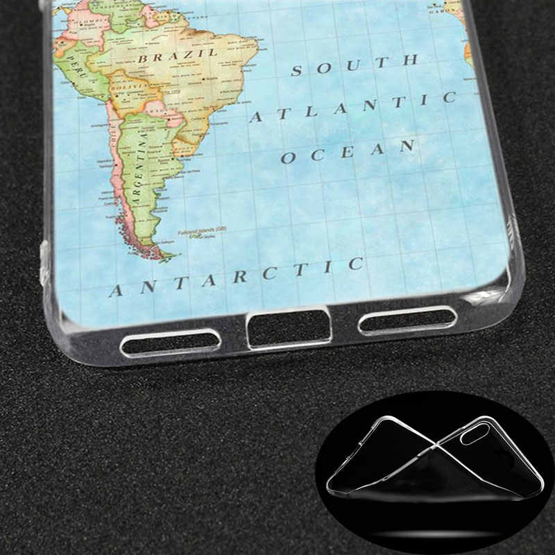 Mewah Lembut Silicone Case Wisatawan Peta Dunia untuk Xiaomi Redmi K20 Pro 7 7A 6 6A 4X5 Plus s2 Go CATATAN 8 7 6 5 Pro 4 Cover