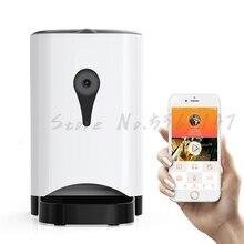 Автоматическая кормушка для кошек и домашних животных, количественное кормление собак, кошек, умная камера, контроль за питанием собак