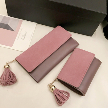 Woman Wallet Long Pu Leather Purse Women With Tassel Girls Short Luxury Designer Brand Famous Clutch
