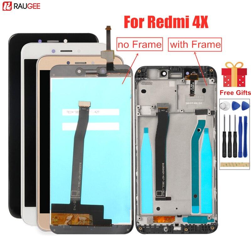 ЖК-экран для Xiaomi Redmi 4X, ЖК-дисплей с рамкой, протестированный дигитайзер сенсорного экрана в сборе для Xiaomi Redmi 4X Pro, ЖК-экран