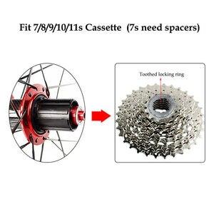 """Image 2 - RXR ruedas de bicicleta de montaña de 27,5 """"26"""" 29 """", rueda de bicicleta de montaña 7 11 Spee, juego de ruedas delanteras y traseras, compatible con Shimano SRAM Cassette"""