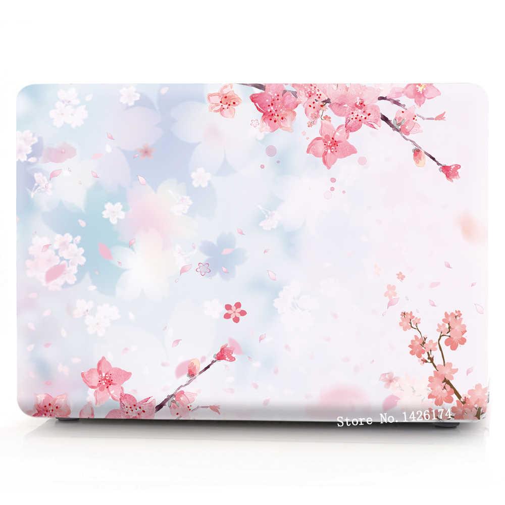 سلسلة أزهار الكرز ، حافظة لجهاز ابل ماك بوك اير برو ريتينا 11 12 13 15 بوصة حقيبة لابتوب ، لاجهزة ماك بوك اير برو 13.3 ، 15.4 كيس.