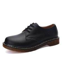 Męskie buty półbuty mokasyny skórzane Unisex botki męskie buty moda brytyjskie buty gumowe tanie tanio okkdey PRAWDZIWA SKÓRA Skóra bydlęca CN (pochodzenie) Stałe Na wiosnę jesień Sznurowane Dobrze pasuje do rozmiaru wybierz swój normalny rozmiar