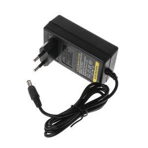 Image 1 - Battery Charger 12.6V DC 2A Intelligent Lithium Li on Power Adapter EU US Plug Transformer