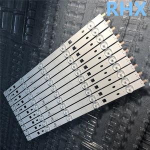 """Image 5 - 10 أجزاء/وحدة LED شريط إضاءة خلفي 5 مصباح ل 40 """"التلفزيون KDL 40W605B NS4S400DND01 A1989957A KDL 40R485A 5 قطعة A + 5 قطعة B 100% جديد"""