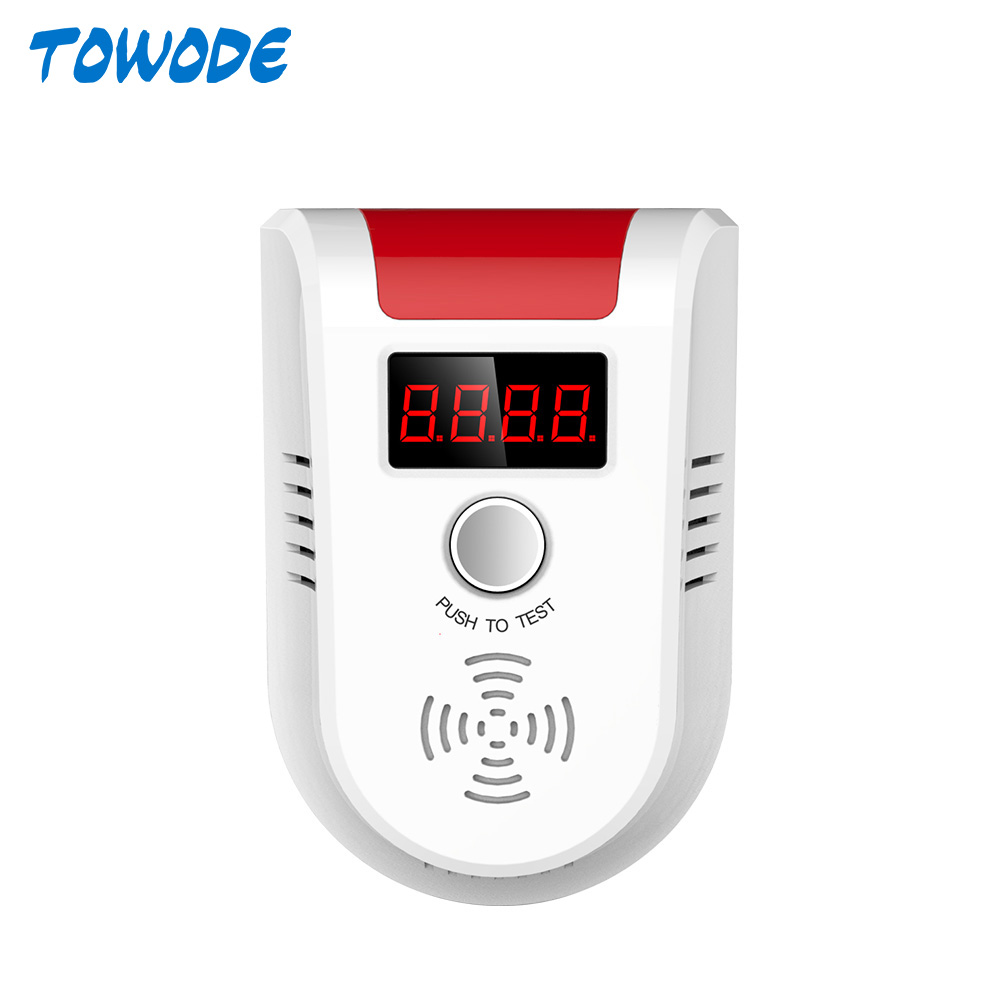 Towode GD13 LPG GAS Detector Wireless Digital LED Display Combustible Gas Detector For G90B S5 KERUI Home Alarm System