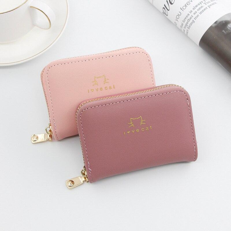 Korean Version of Candy Color Wallet Card Bag Large Capacity Multi-card Bit