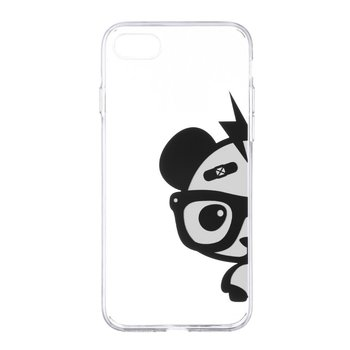 Color Painted Panda Pattern Phone Case For iPhone 7 Plus Soft Silicone Ultra Thin Transparent Lightweight Protective Cover Shell image