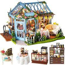 SG& DIY  Miniature with Furniture, DIY Dollhouse Kit Plus Dust Proof and Music Movement, 1:24 Scale Creative Room Idea (Rose Ga