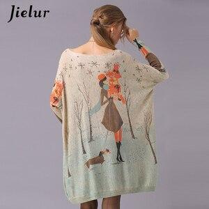 Image 5 - Jielur Sweater Women Cartoon Printed Long Sleeve Jumper Kawaii Knitted Sweaters Spring Autumn Pullover Basic Pull Femme
