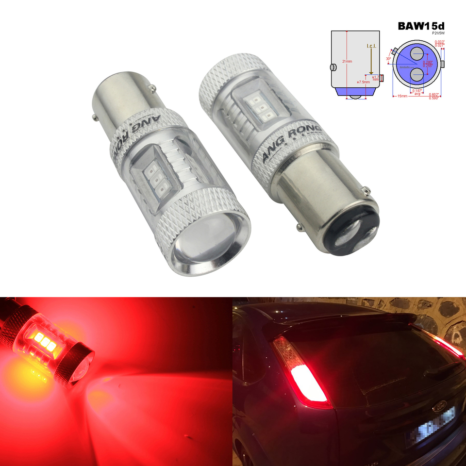 5 LED Light Bulbs Replacement Stop Tail Indicator Rear Fog 582 7440 12