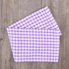 40x27CM Высококачественная хлопковая ткань для посуды Высокопрочное абсорбирующее кухонное полотенце чайное полотенце-фиолетовый