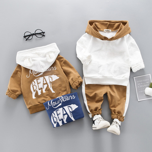 LZH Toddler Boys Clothes Autumn Winter Kids Girls Clothes Hooded+Pant 2pcs Outfit Suit Children Costumes For Boys Clothing Sets