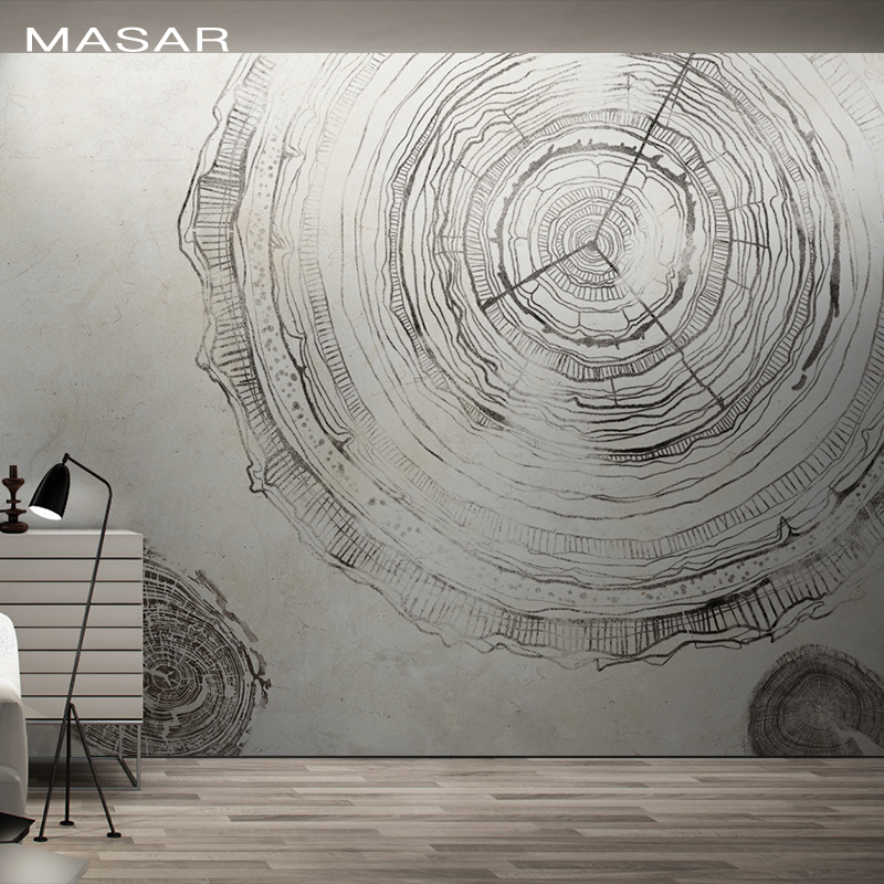 MASAR Original Art Imitation Hand-painted Watch Mural Office Business Background Wall Wallpaper Waterproof TIME