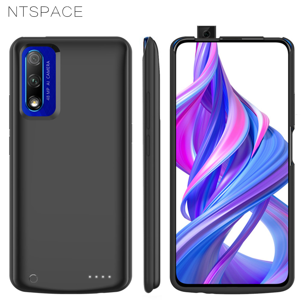 NTSPACE 6500mAh For Huawei Honor 9X Pro Battery Charger Cases Backup Power Bank Shockproof Cover For Huawei Honor 9X Power Case