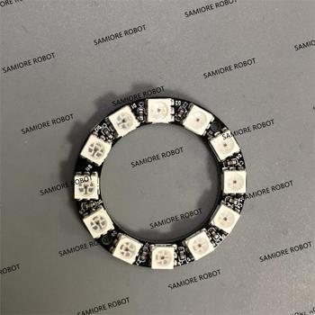 12 bitów RGB LED pierścień WS2812 WS2812B 5050 RGB LED Spot zintegrowany sterownik sterowania moduł szeregowy dla Arduino|Układy scalone|   -