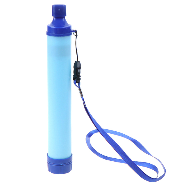 Military 99.99% Water Filter Purification Emergency Gear Straw Camping Hiking Water System Filter Water Purifier