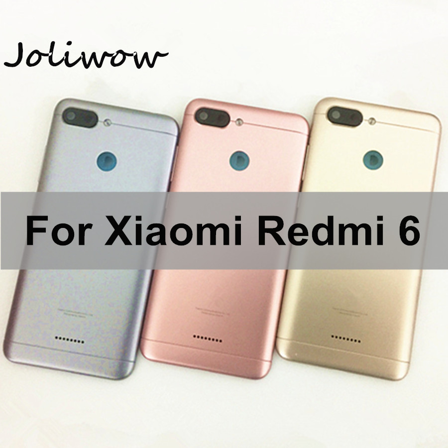 <font><b>Battery</b></font> Back Cover For <font><b>Redmi</b></font> <font><b>6</b></font> <font><b>Battery</b></font> Cover Back <font><b>Case</b></font> For Xiaomi <font><b>Redmi</b></font> <font><b>6</b></font> Back Cover Housing +Volume Power Buttons Cameca Lens image