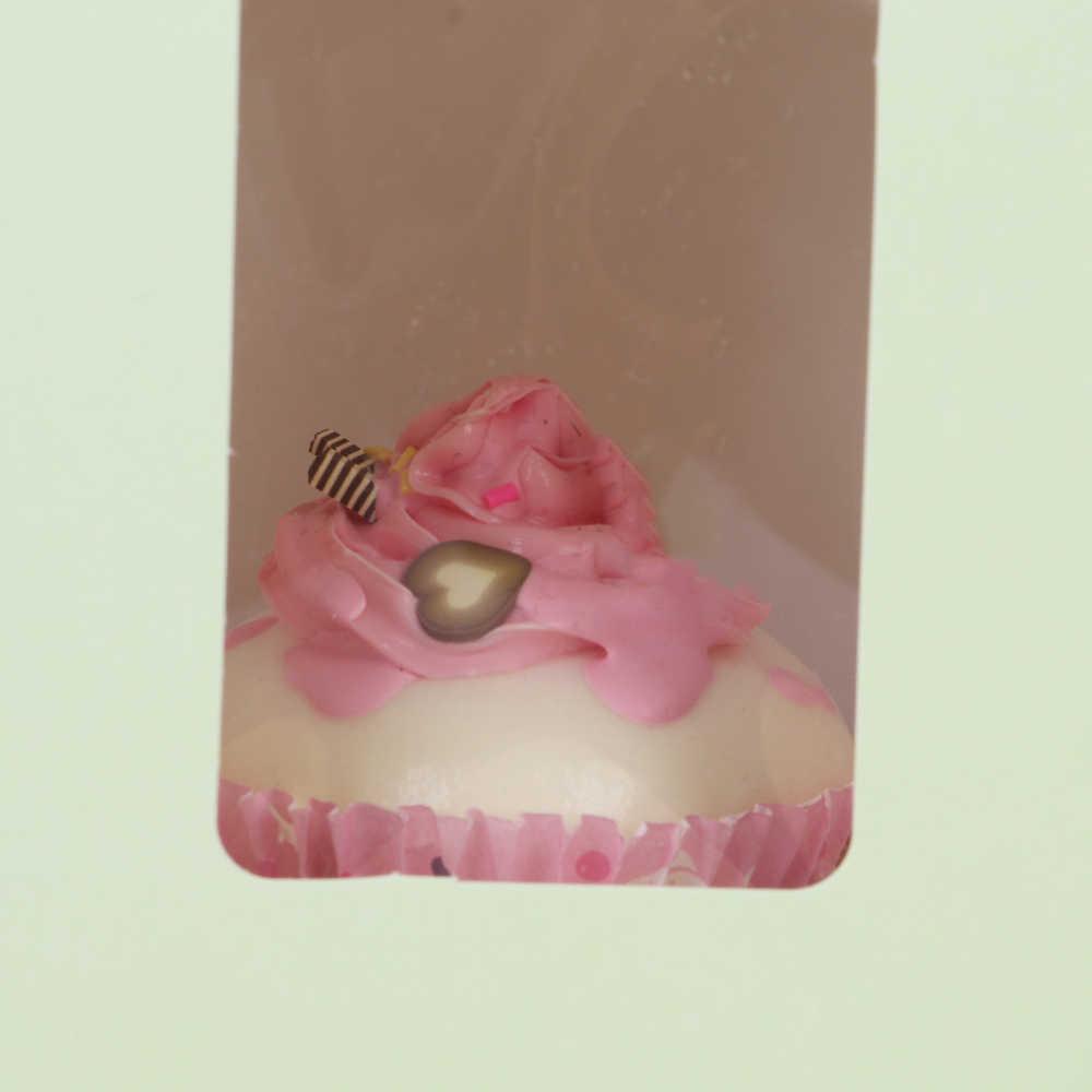 1/3Pcs Candy Box Einzigen Cupcake Mousse/Muffin/Schlamm Verpackung Pudding Flasche Fee Kuchen Boxen Mit klar Fenster Geschenke Werkzeuge