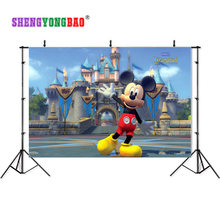 Shuozrandonnée 210cm * 150cm vinyle décors pour la photographie Mickey Mouse Photo Studio fond NML-1080(China)