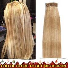 Joedir волосы бразильские волосы Remy с двойным нарисованными пряди прямые волосы Yaki цвет# P6/613 цвета пианино блонд пряди