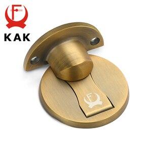 Image 5 - KAK Magnetic Door Stops 304 Stainless Steel Door Stopper Hidden Door Holders Catch Floor Nail free Doorstop Furniture Hardware