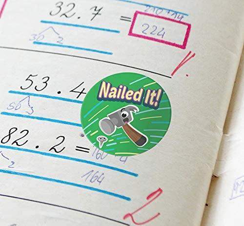 Купить 500 шт/рулон милые наклейки в виде животных с надписью мотивационные